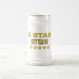 Divertido refresque la 60 a estrella de los cumple tazas de café