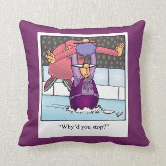 Divertido regalo de la almohada del patinaje
