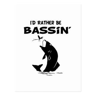 Divertido sería bastante pesca de Bassin Postales