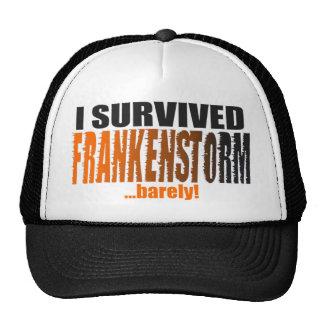 ¡Divertido sobreviví FRANKENSTORM… apenas! Gorra