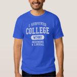 Divertido - sobreviví la universidad camisas