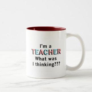 Divertido soy camisetas y regalos de un profesor taza de café