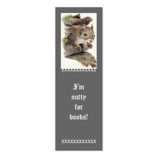 Divertido, soy de nuez para los libros, señal lind plantilla de tarjeta personal