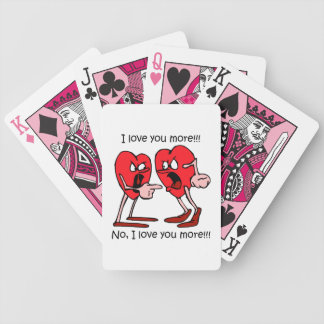 divertido te amo baraja de cartas bicycle