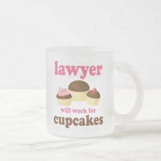 Divertido trabajará para el abogado de las magdale taza cristal mate
