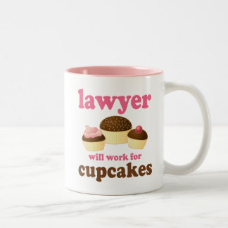 Divertido trabajará para el abogado de las taza de café de dos colores