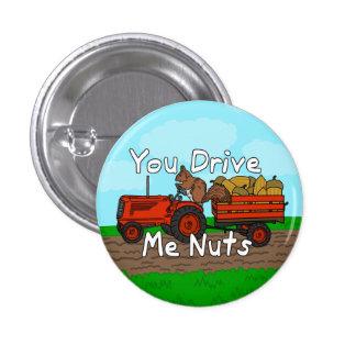 Divertido usted me conduce retruécano Nuts de la Pin Redondo 2,5 Cm