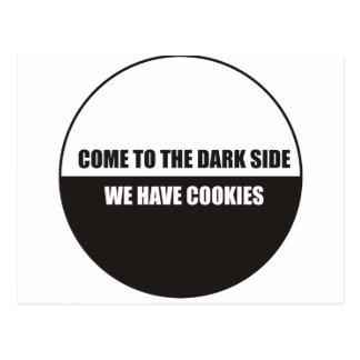 Divertido - venido al lado oscuro tenemos galletas postales