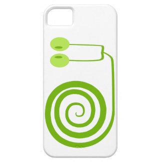 Divertido y alegre caracol verde con espiral funda para iPhone SE/5/5s