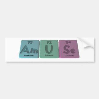 Divertir-Ser-U-SE-americio-uranio-Selenio Pegatina Para Auto