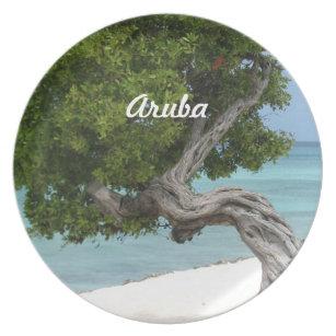 Divi Divi Tree in Aruba Melamine Plate