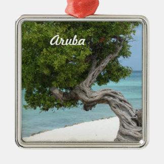Divi Divi Tree in Aruba Metal Ornament
