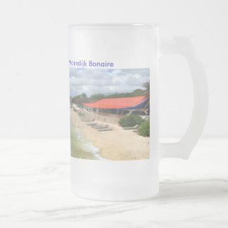 Divi Flamingo Beach Resort Frosted Glass Beer Mug