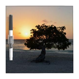 Divi Tree Sunset Dry Erase Whiteboard