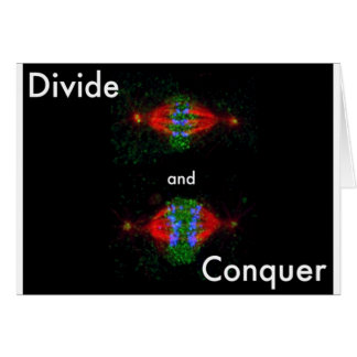 Divide and conquer greeting card