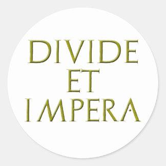 Divide Et Impera Sticker
