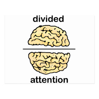 Divided Attention Postcard