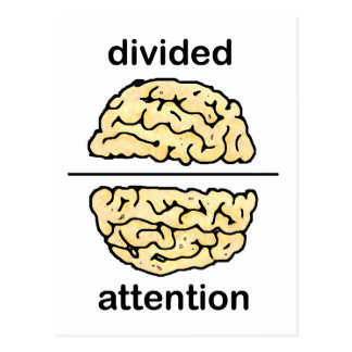 Divided Attention Post Cards
