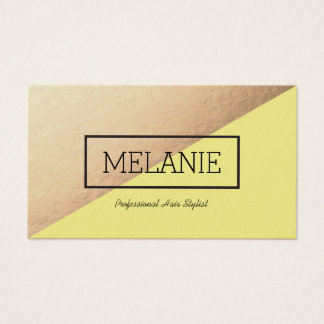 Divided Business Cards in Yellow