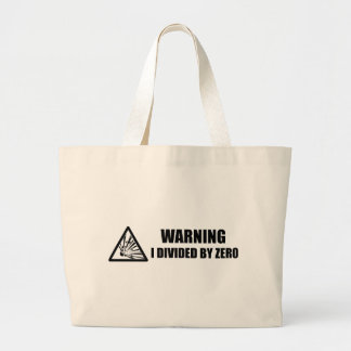 Divided by Zero Large Tote Bag