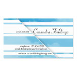 Divided Clouds - Blue Business Card