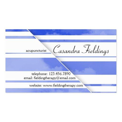 Divided Clouds - Dark Blue Business Card