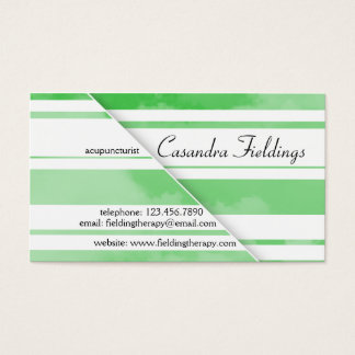 Divided Clouds - Green Business Card