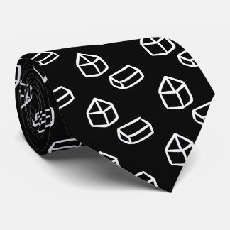 Divided Cubes Sign Tie