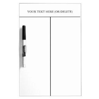Divided Dry-erase Board-Customize Text. Dry-Erase Board
