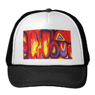 Divided Flames (abstract expressionism) Trucker Hat