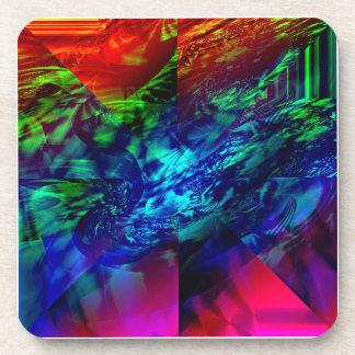 Divided Fractal Abstract Beverage Coaster