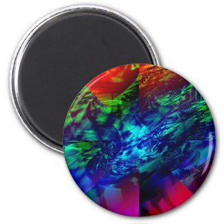 Divided Fractal Abstract Magnet