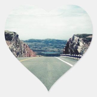 Divided Heart Sticker