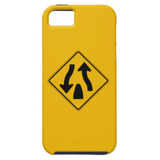 Divided Highway Ends 1, Traffic Warning Sign, USA iPhone 5 Cases