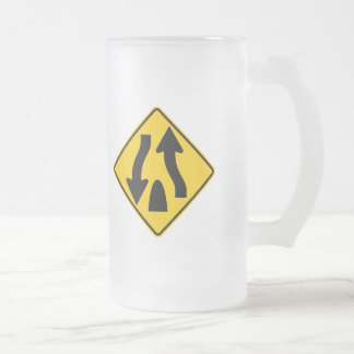 Divided Highway Ends Highway Sign Coffee Mugs