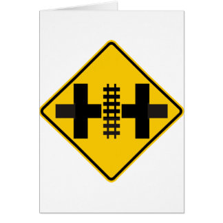 Divided Highway Intersection with Rail Crossing Card