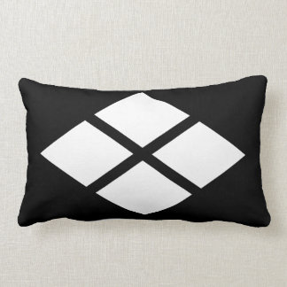 Divided rhombus lumbar pillow