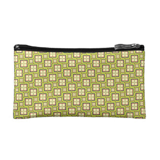 Divided Squares Small Cosmetic Bag