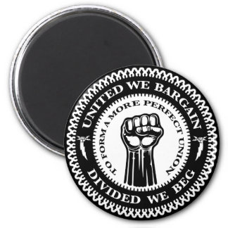 Divided We Beg 2 Inch Round Magnet