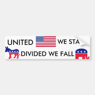 Divided we Fall Bumper Sticker