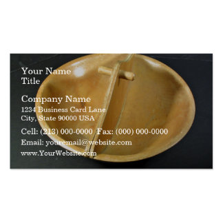 Divided Wooden Bowl Business Card Templates