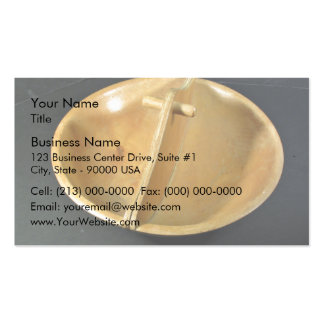 Divided Wooden Bowl Business Card Template