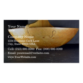 Divided Wooden Bowl Business Cards