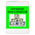 DIVIDEND GREETING CARD