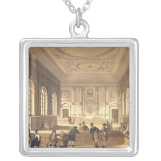 Dividend Hall at South Sea House Silver Plated Necklace
