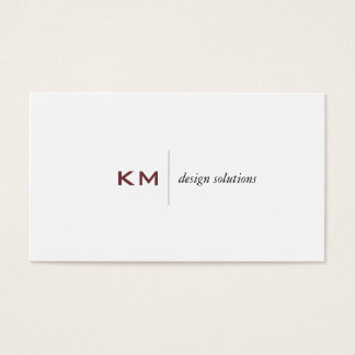 Divider Line (rose vale) Tab Business Card