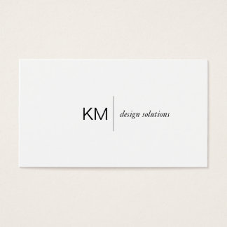 Divider Line with Black Tab Business Card