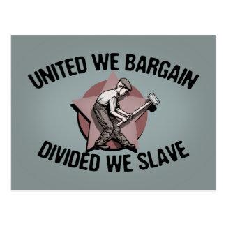 Dividido esclavizamos postales