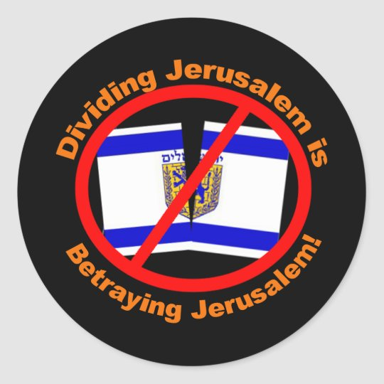 Dividing Jerusalem Classic Round Sticker