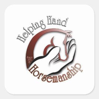 ¡Diviértase el logotipo de la equitación de la Calcomanías Cuadradass